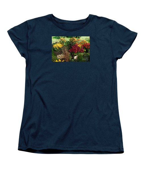 Women's T-Shirt (Standard Cut) featuring the digital art Flowers For Sale by David Blank