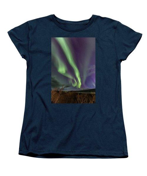 Flowing Aurora Women's T-Shirt (Standard Cut) by Hitendra SINKAR