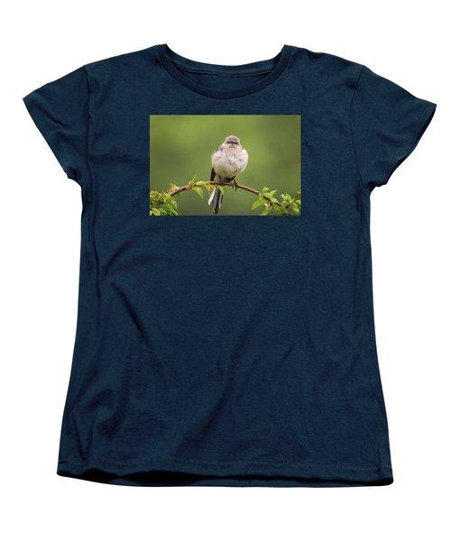 Fluffy Mockingbird Women's T-Shirt (Standard Cut) by Terry DeLuco