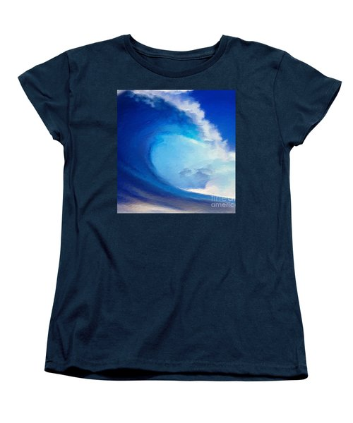Women's T-Shirt (Standard Cut) featuring the digital art Fluid by Anthony Fishburne