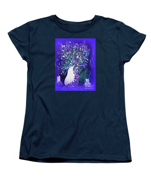 Women's T-Shirt (Standard Cut) featuring the painting Flower Art  Spring Flowers In A Vase by Sherri  Of Palm Springs