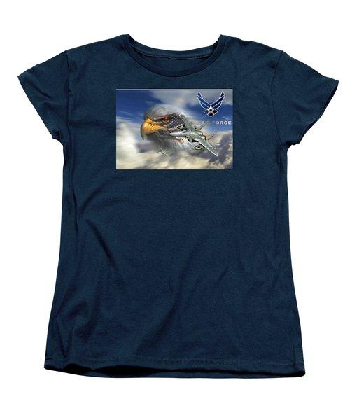 Fly Like The Eagle Women's T-Shirt (Standard Cut) by Ken Pridgeon