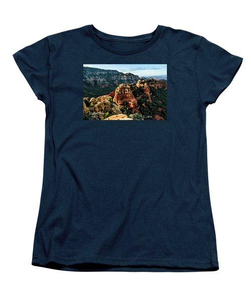 Flying Buttress 04-227 Women's T-Shirt (Standard Cut) by Scott McAllister