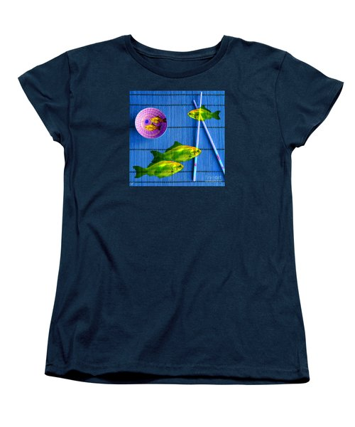 Flying Fish And The Pink Moon Women's T-Shirt (Standard Cut) by LemonArt Photography