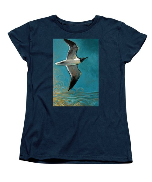 Women's T-Shirt (Standard Cut) featuring the painting Flying Free by Suzanne McKee