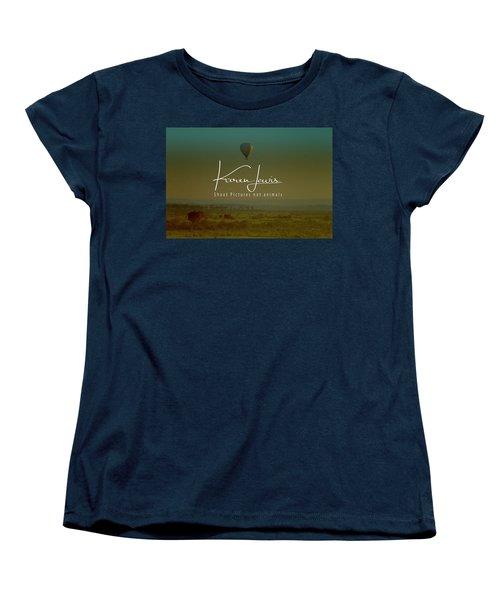 Women's T-Shirt (Standard Cut) featuring the photograph Flying High On The Masai Mara by Karen Lewis