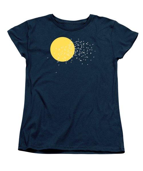 Flying Home Women's T-Shirt (Standard Cut) by Sverre Andreas Fekjan