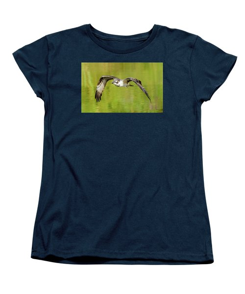 Flying Osprey Women's T-Shirt (Standard Cut) by Jerry Cahill