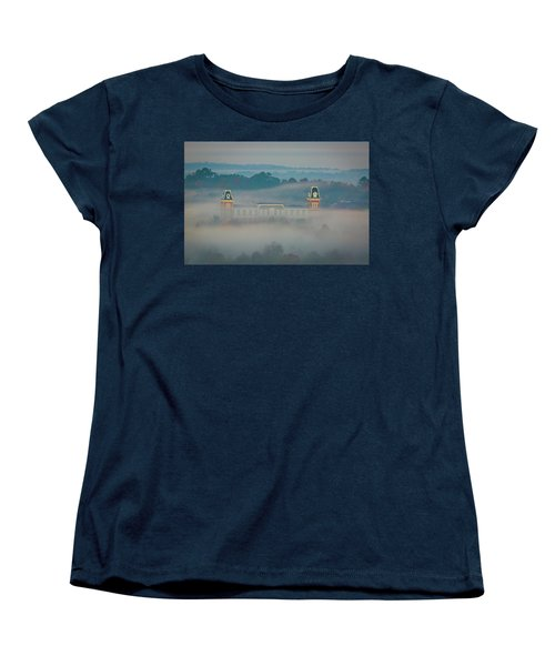 Fog At Old Main Women's T-Shirt (Standard Cut) by Damon Shaw