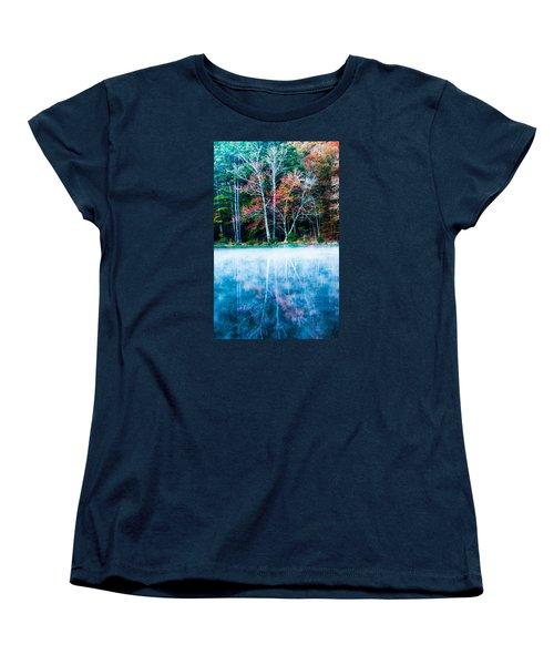 Fog On The Lake Women's T-Shirt (Standard Cut) by Parker Cunningham