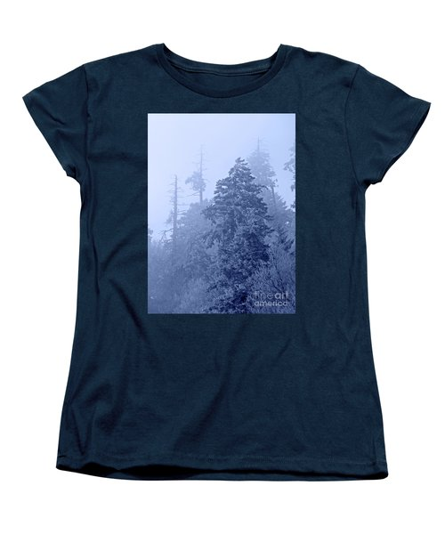 Women's T-Shirt (Standard Cut) featuring the photograph Fog On The Mountain by John Stephens