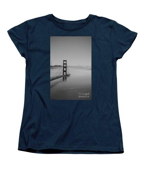 Women's T-Shirt (Standard Cut) featuring the photograph Fogging The Bridge by David Bearden
