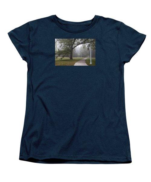 Foggy Campus  Women's T-Shirt (Standard Cut) by John McGraw