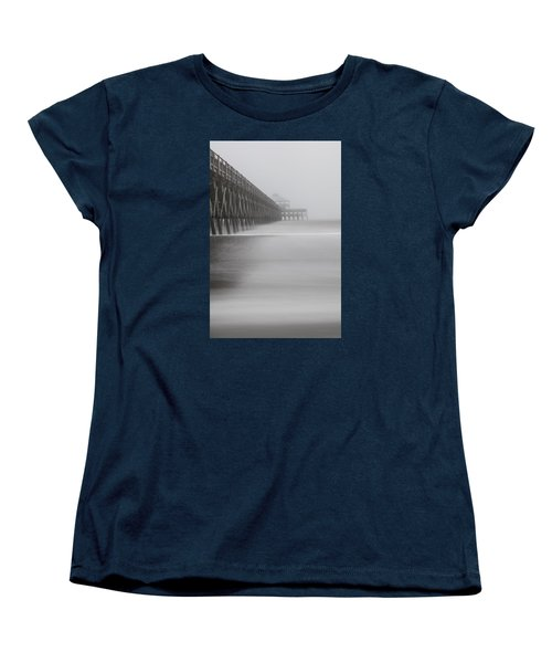 Foggy Folly Beach Pier Women's T-Shirt (Standard Cut)