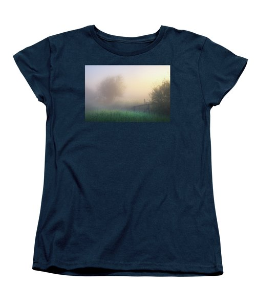Women's T-Shirt (Standard Cut) featuring the photograph Foggy Morning by Dan Jurak
