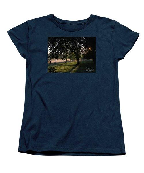 Women's T-Shirt (Standard Cut) featuring the photograph Foggy Morning by Mark McReynolds