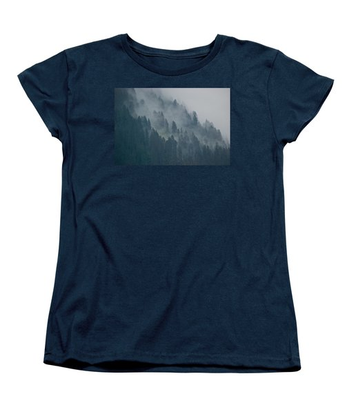 Foggy Mountain Ridge Women's T-Shirt (Standard Cut) by Eric Tressler