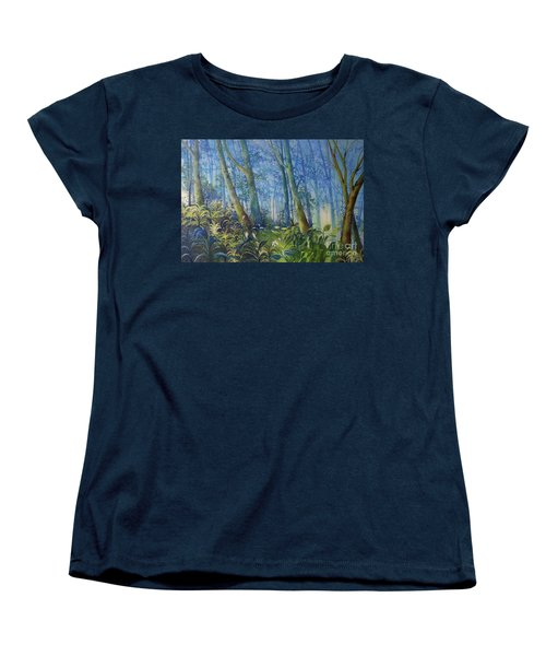 Follow Me Oil Painting Of A Magic Forest Women's T-Shirt (Standard Cut)