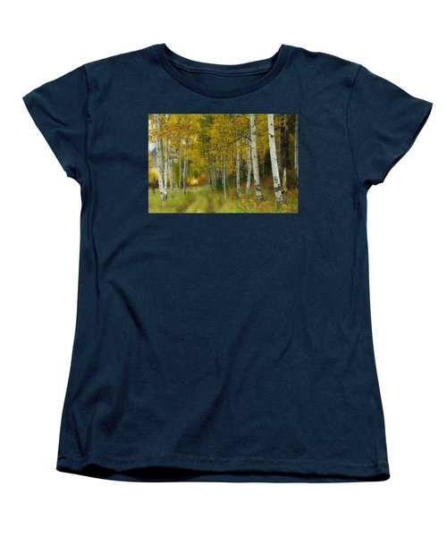 Follow The Light Women's T-Shirt (Standard Cut) by Donna Blackhall
