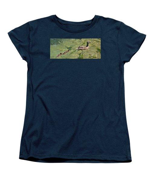 Following Mom Women's T-Shirt (Standard Cut) by Pamela Blizzard