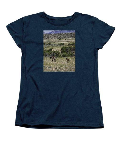 Following Momma Women's T-Shirt (Standard Cut) by Elizabeth Eldridge