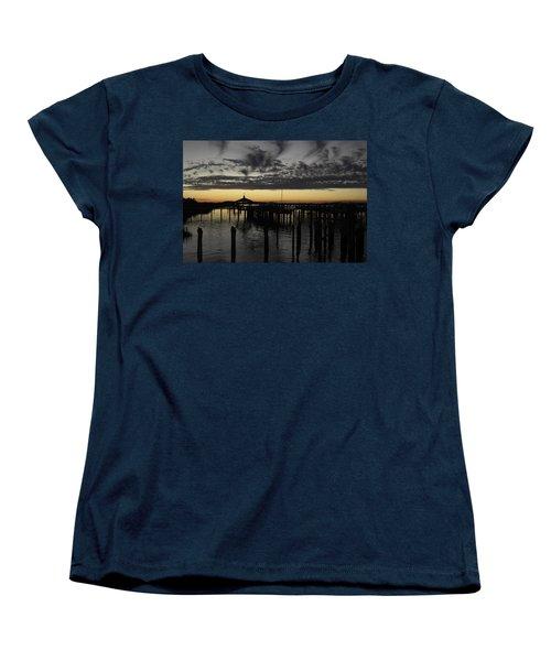 Folly Beach Dock Women's T-Shirt (Standard Cut) by Will Burlingham