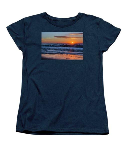 Women's T-Shirt (Standard Cut) featuring the photograph Folly Beach Sunrise by RC Pics