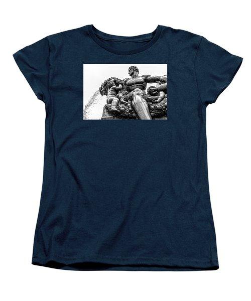 Women's T-Shirt (Standard Cut) featuring the photograph Fontana Di Piazza Solferino-1 by Sonny Marcyan