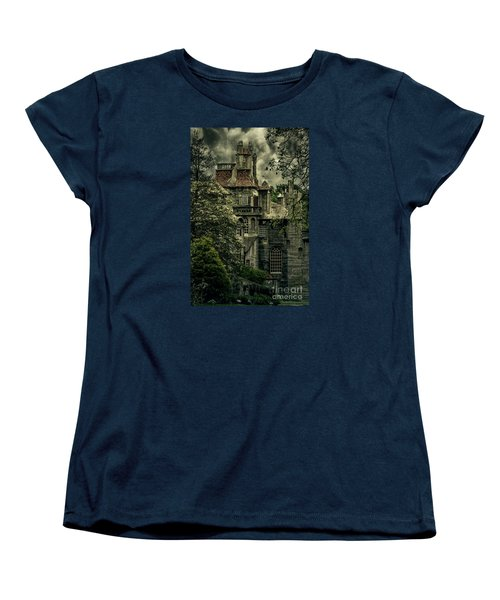 Fonthill With Storm Clouds Women's T-Shirt (Standard Cut) by Debra Fedchin