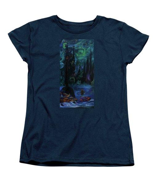 Forbidden Forest Women's T-Shirt (Standard Cut) by Christophe Ennis