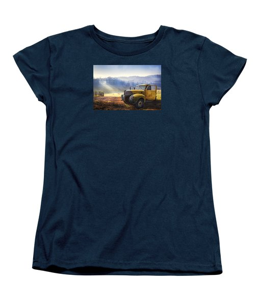 Ford In The Fog Women's T-Shirt (Standard Cut) by Debra and Dave Vanderlaan