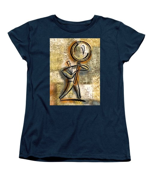 Women's T-Shirt (Standard Cut) featuring the painting Forecasting by Leon Zernitsky