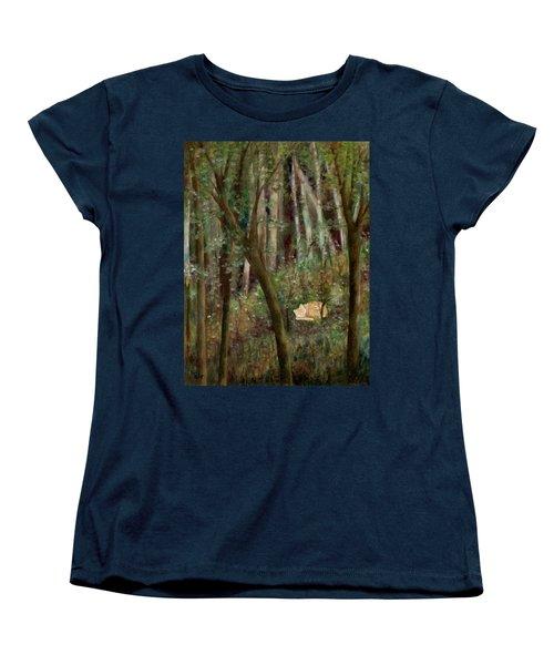 Forest Cat Women's T-Shirt (Standard Cut) by FT McKinstry