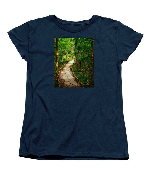 Women's T-Shirt (Standard Cut) featuring the photograph Forest Path by Nikki McInnes