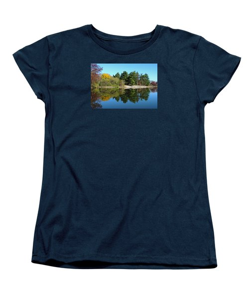 Women's T-Shirt (Standard Cut) featuring the photograph Forest Reflections by Teresa Schomig