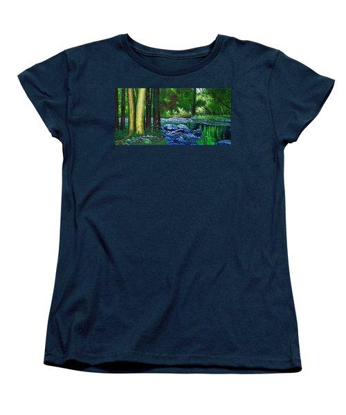 Forest Stream Women's T-Shirt (Standard Cut) by Michael Frank