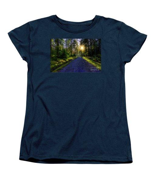Women's T-Shirt (Standard Cut) featuring the photograph Forest Sunlight by Ian Mitchell