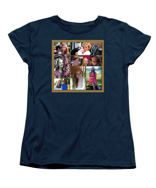 Women's T-Shirt (Standard Cut) featuring the digital art Forever Moments by Kathy Tarochione