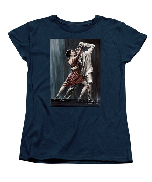 Women's T-Shirt (Standard Cut) featuring the painting Forever Tango by Judy Kirouac