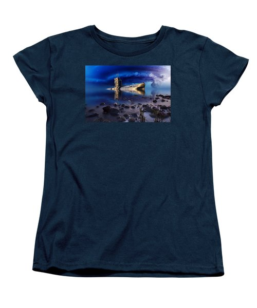 Women's T-Shirt (Standard Cut) featuring the mixed media Forgotten In No Man's Land by Gabriella Weninger - David
