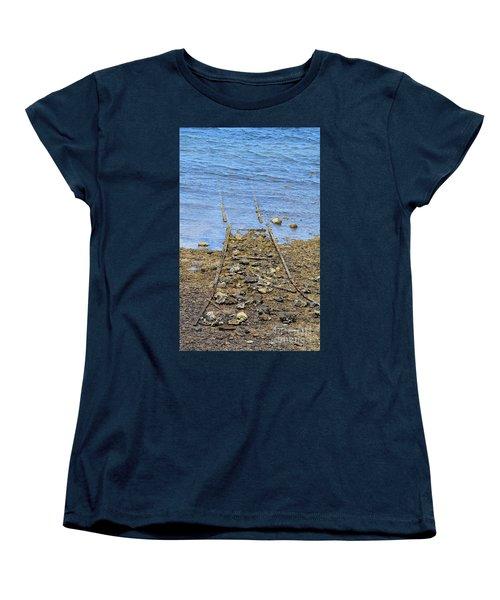 Women's T-Shirt (Standard Cut) featuring the photograph Forgotten Line by Stephen Mitchell