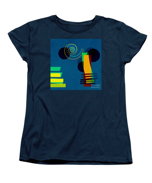 Women's T-Shirt (Standard Cut) featuring the digital art Formes - 03b by Variance Collections