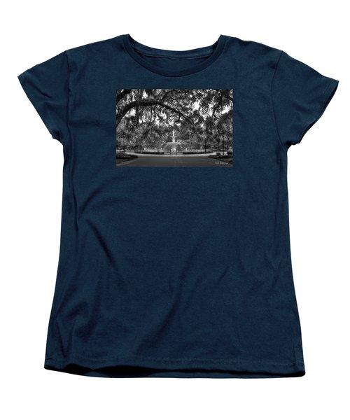 Forsyth Park Fountain 2 Savannah Georgia Art Women's T-Shirt (Standard Cut) by Reid Callaway
