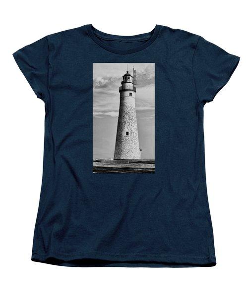 Fort Gratiot Lighthouse Women's T-Shirt (Standard Cut) by Pat Cook
