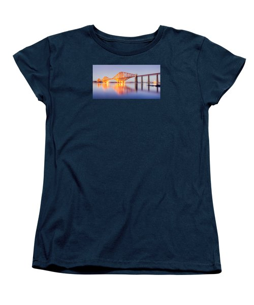 Forth Bridge Sunset Women's T-Shirt (Standard Cut) by Ray Devlin