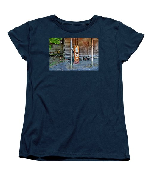 Women's T-Shirt (Standard Cut) featuring the photograph Forty Nine Cents Per Gallon by Linda Brown