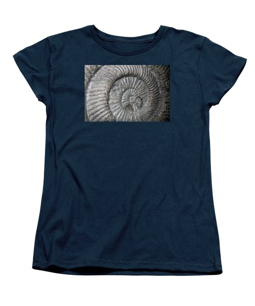Fossil Spiral  Women's T-Shirt (Standard Cut) by LeeAnn McLaneGoetz McLaneGoetzStudioLLCcom