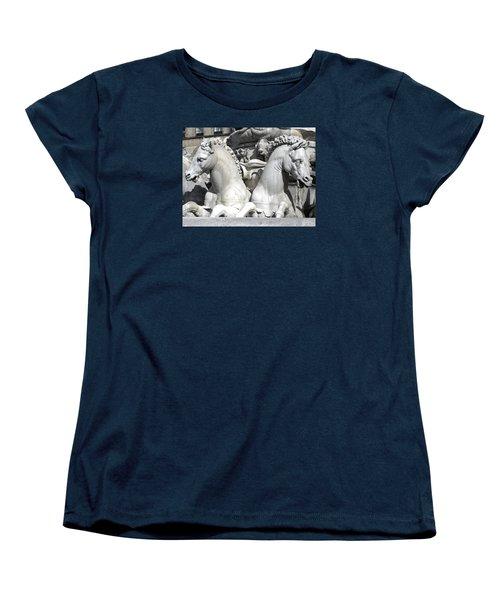 Fountain Of Neptune Florence Women's T-Shirt (Standard Cut) by Lisa Boyd