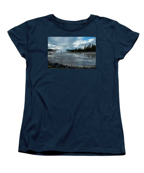 Fountain Paint Pot Area Women's T-Shirt (Standard Cut) by Cindy Murphy - NightVisions