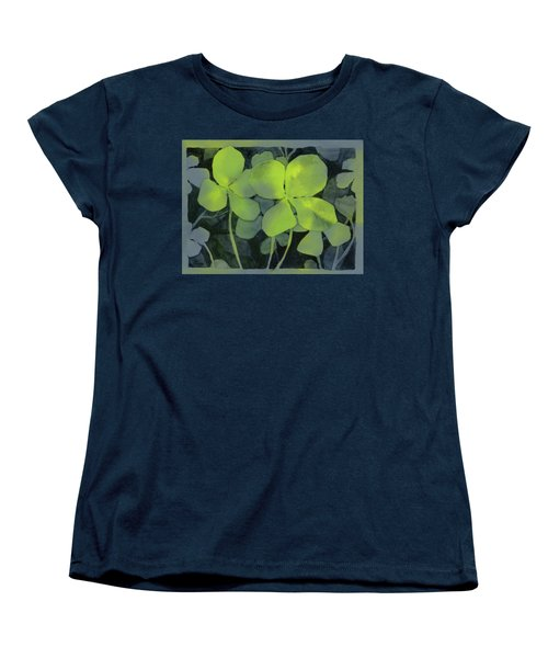 Four Leaf Clover Watercolor Women's T-Shirt (Standard Fit)